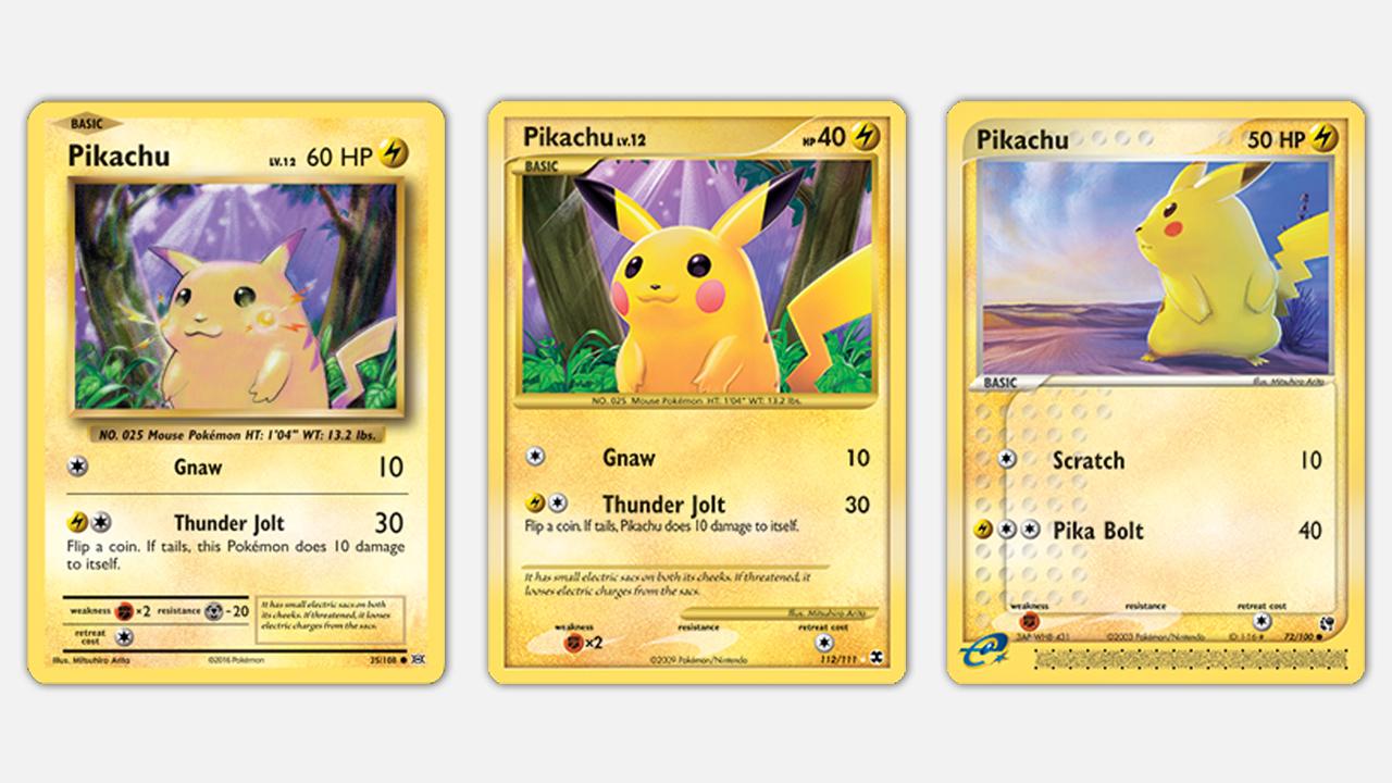 Just a few of Arita's Pikachu cards