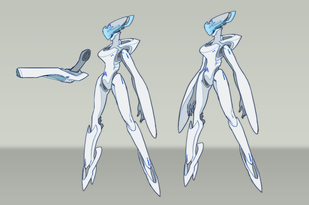 Concept art for Titan eventually led to the creation of Echo in Overwatch.