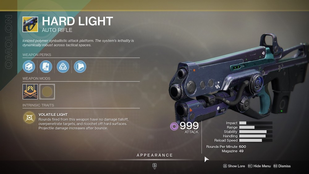 Hard Light is a must-use gun in the Crucible in the Season of the Worthy, so make sure to grab this one.