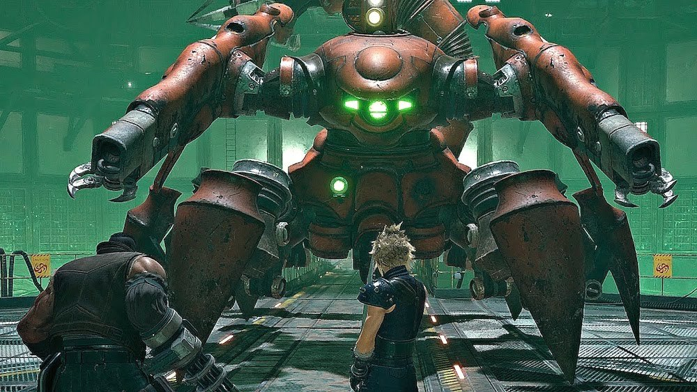 The Scorpion Sentinel is a formidable boss, even in the first chapter. Listen to Cloud and Barret's dialogue for tips and tactics to defeat it.