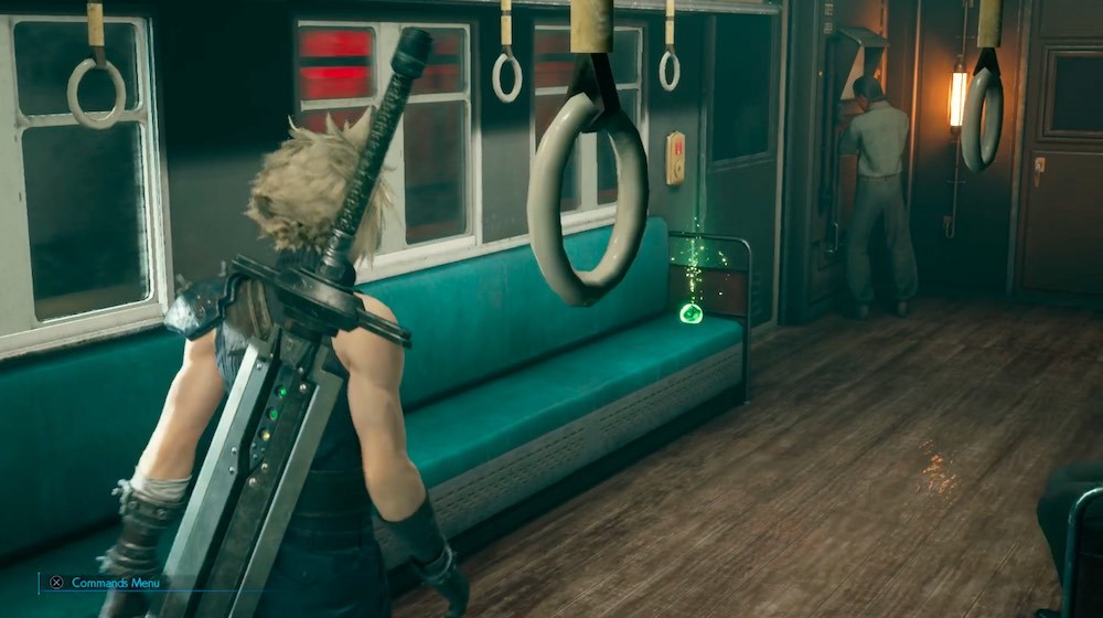 Don't forget to grab the Healing Materia from Barret's train car after the scene with him.
