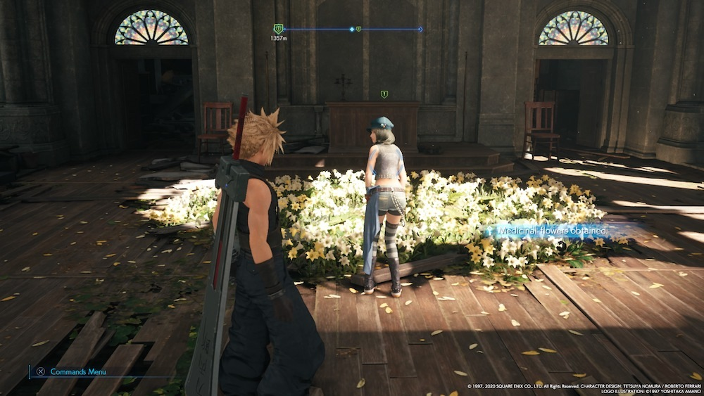 You'll find Kyrie in Aerith's church, but she won't help you out until you go to Corneo's Colosseum.