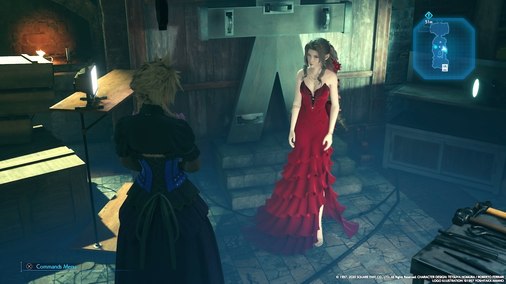 Aerith's most lavish outfit comes when you complete all six side-quests in Sector 5 during Chapter 8.