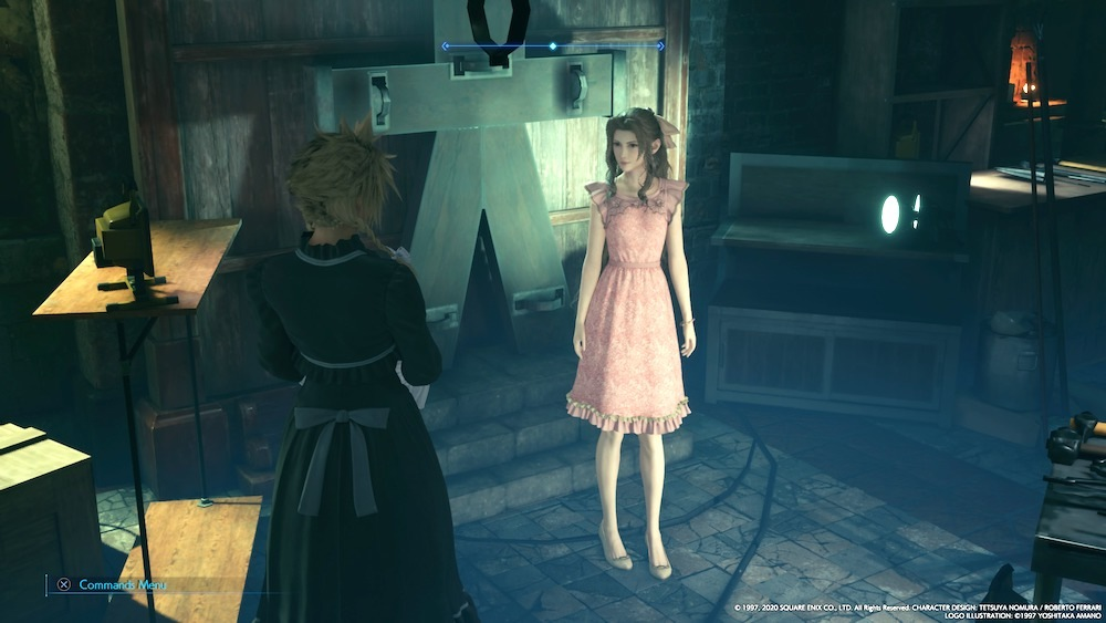 If you don't help anyone in Sector 5 while you're there in Chapter 8, Aerith will opt for a very simple dress.