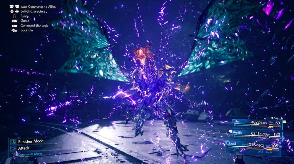 Whisper Bahamut has some incredibly deadly attacks and likes to come at you fast. Guard a lot and use counters to damage it and push up its stagger meter.