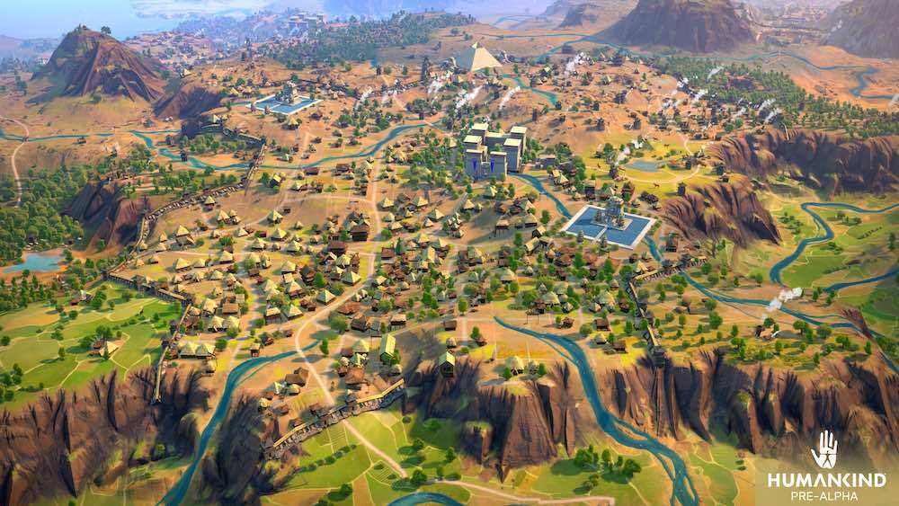 Cities can be huge and sprawling as you continue to build them out and take advantage of resources throughout your claimed territory.