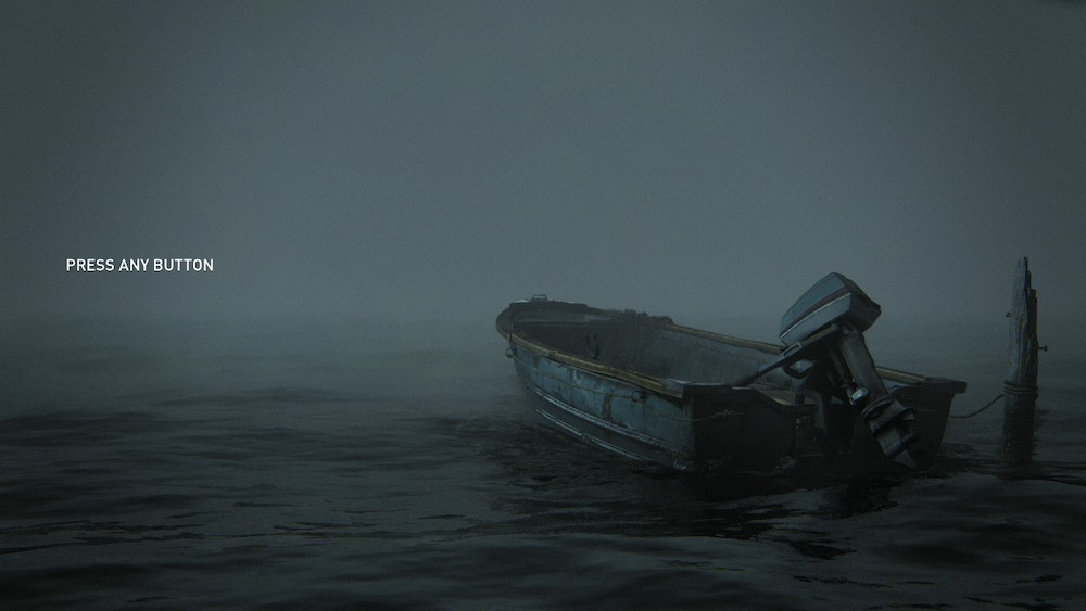 The boat shrouded in fog is an image from the final confrontation between Ellie and Abby, and it suggests the darkness in which Ellie finds herself lost.