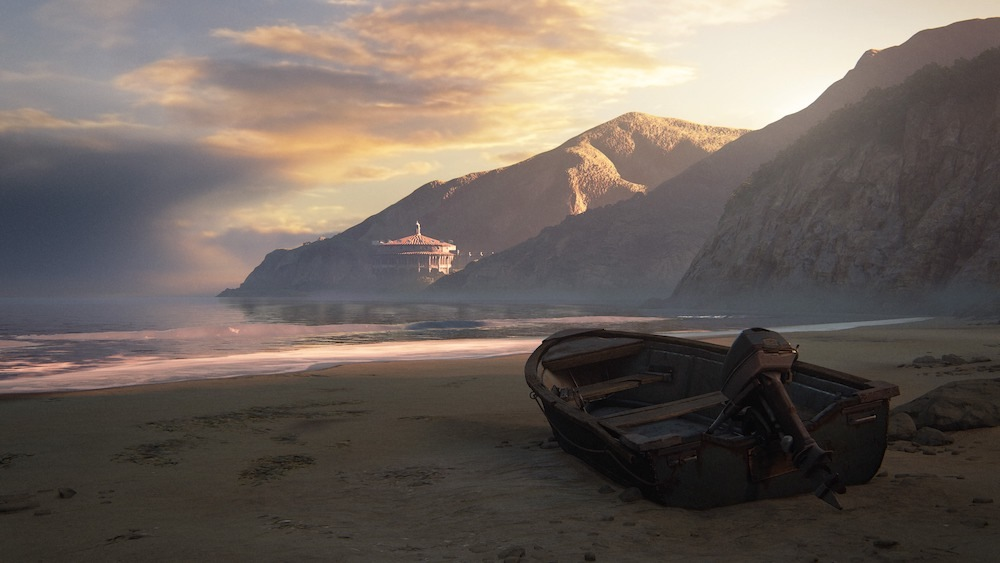 It seems pretty metaphorically poignant that the main menu screen no longer shows a dark boat shrouded in fog, but the brighter, more hopeful shore of Catalina Island.