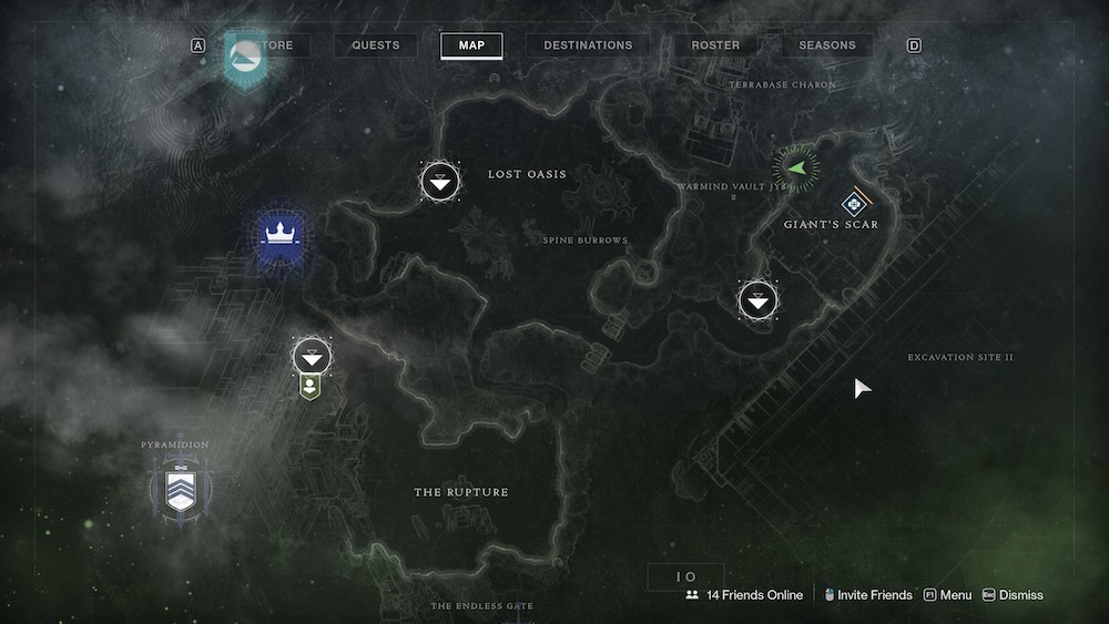 The entrance to Xur's cave isn't obvious, but you've likely been here many times before.