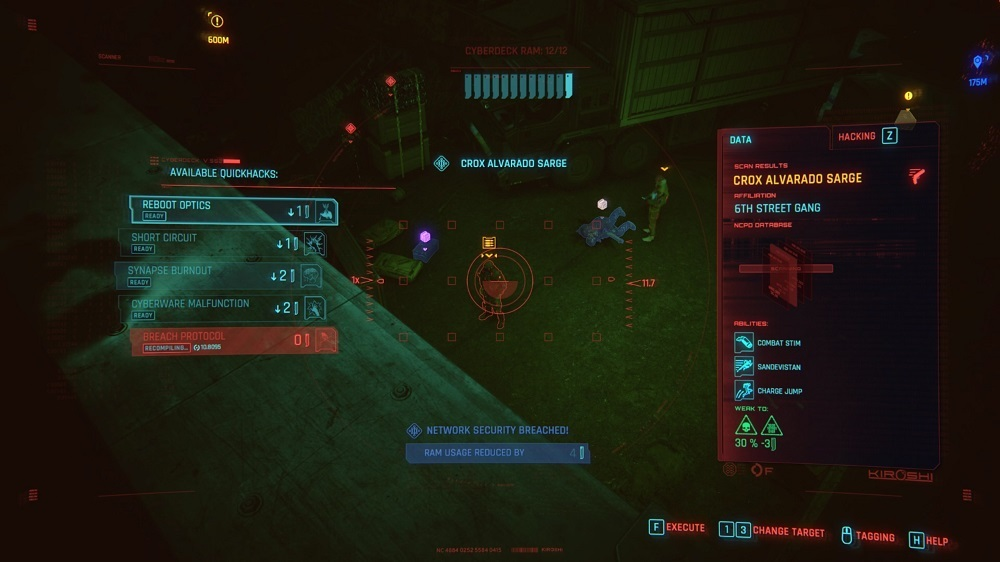 Tagging enemies makes them visible through walls, which will help you greatly during stealth.