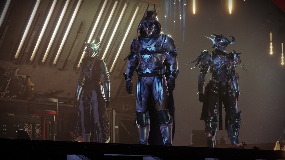 The Dawning 2020 armor sets for Hunters, Titans, and Warlocks.