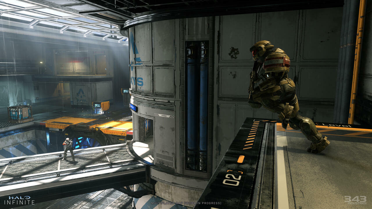 Halo Infinite's first multiplayer map looks to be fairly vertical but relatively compact, with a lot of wide-open space.