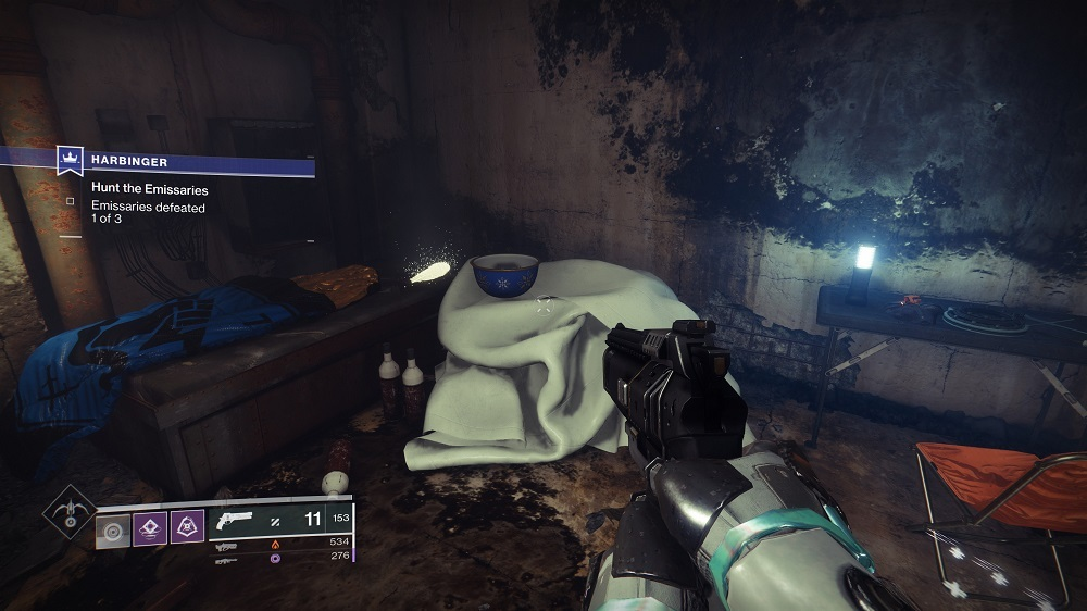 After fighting the Taken Captain Emissary, look for a door leading out of his room on the second level.
