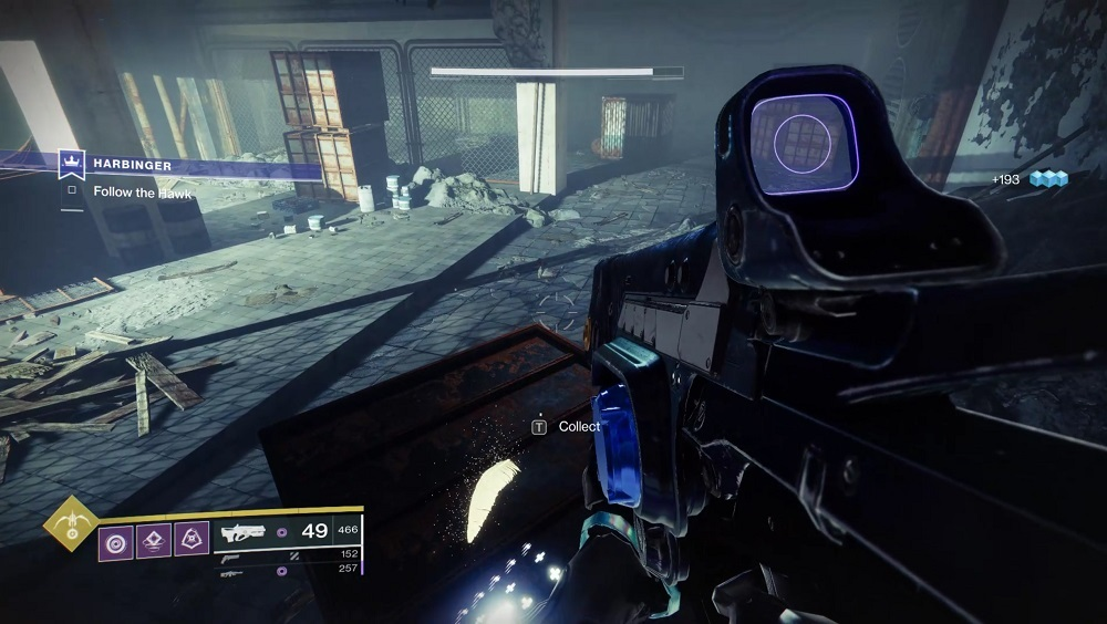 The rusted crate in the corner of the room where you fight the Taken Centurion Emissary has the third feather.