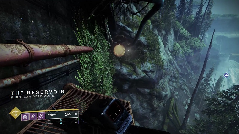 You can shortcut the jumping portion of Harbinger by taking this pipe, which is usually shut.
