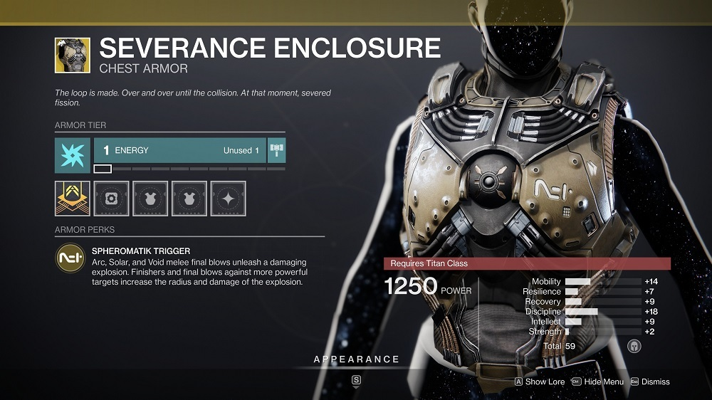 In true Titan fashion, Severance Enclosure causes your punches to make people blow up.