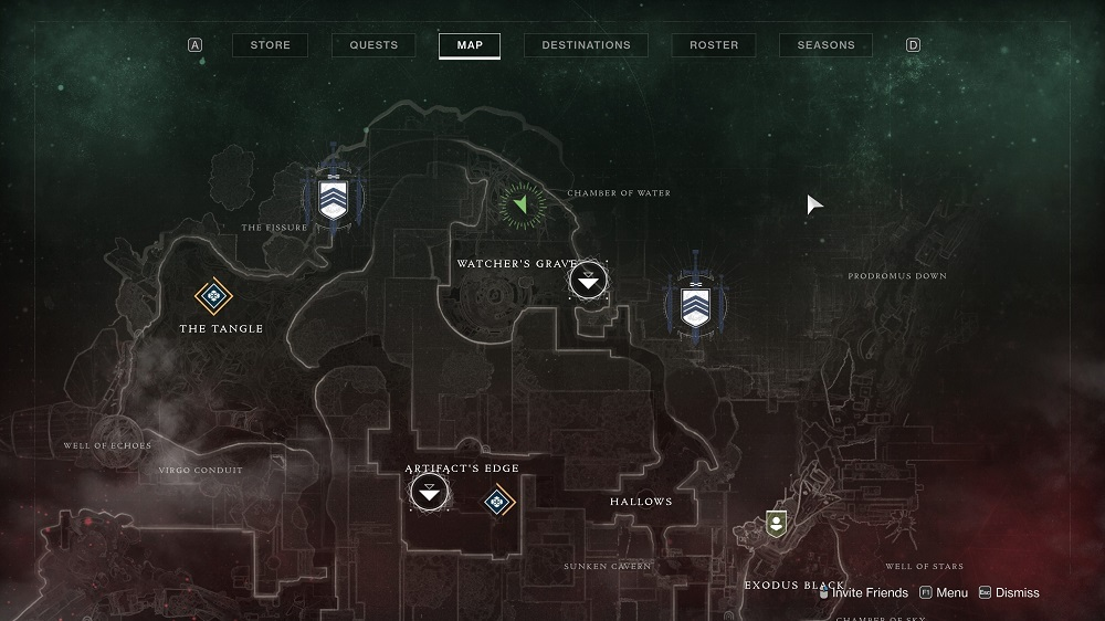 Head to the north end of the Watcher's Grave area and climb the big pink tree to find Xur hanging out among its branches.