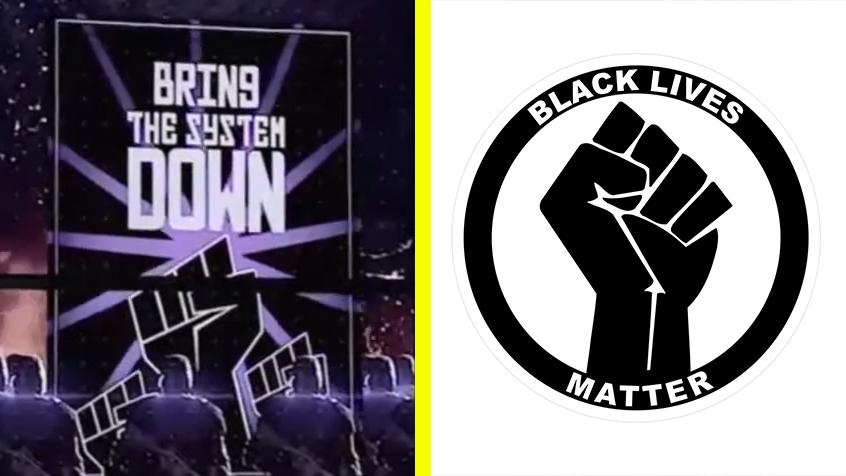 Left: Tom Clancy's Elite Squad, Right: Black Lives Matter logo
