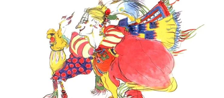 Kefka ilustrado por Yoshitaka Amano
