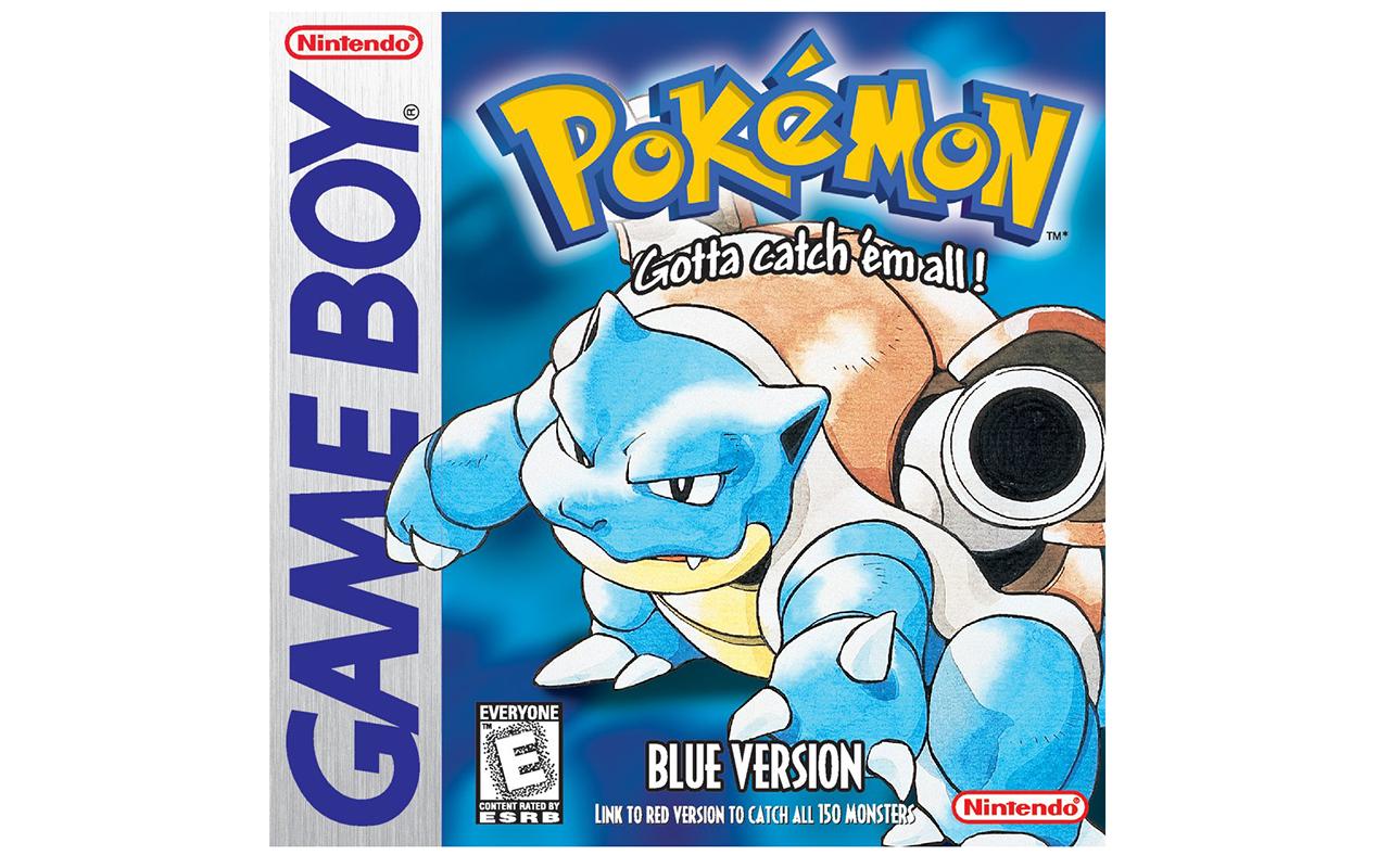 Pokemon blauw, rood en geel