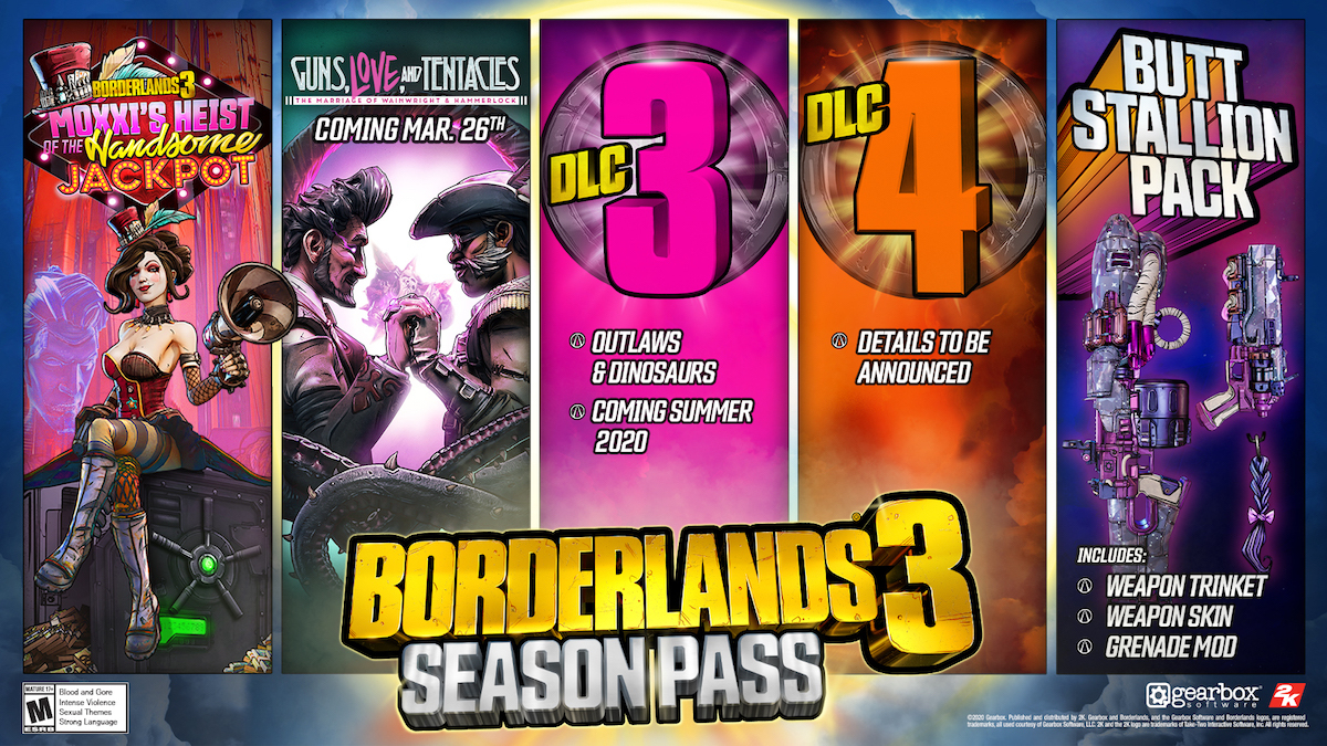 Borderlands 3 will get four major post-launch campaign-focused DLC expansions in 2020.