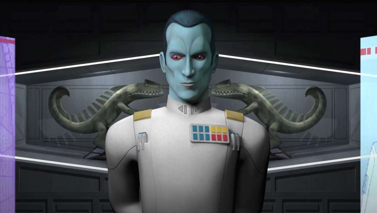 Thrawn commands a menacing aura--watch Star Wars: Rebels and just wait for him to speak. You'll see what we mean.