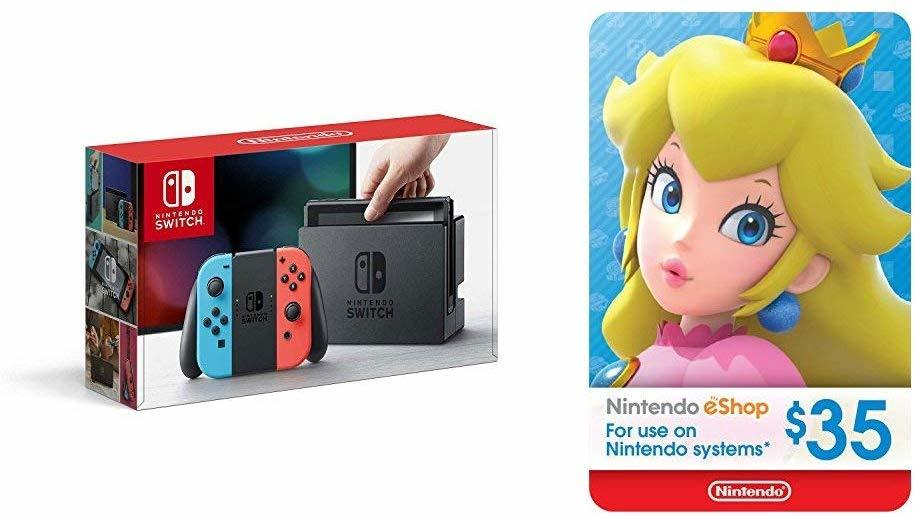 Nintendo Switch + $35 Eshop credit - on sale for $300 (was $334) at Amazon