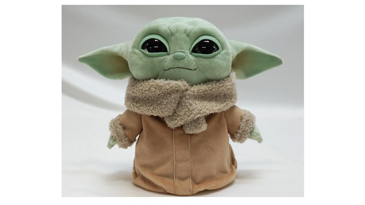 This Baby Yoda plush is too cute