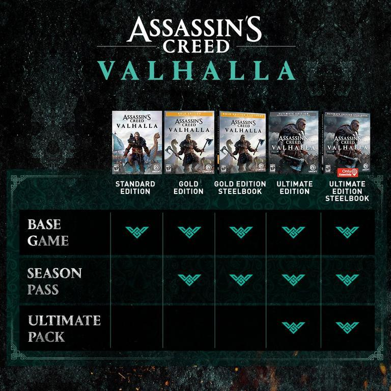 Assassin's Creed Valhalla standard and special editions