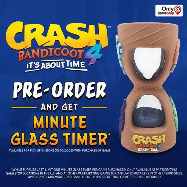 GameStop-exclusive preorder bonus for Crash Bandicoot 4