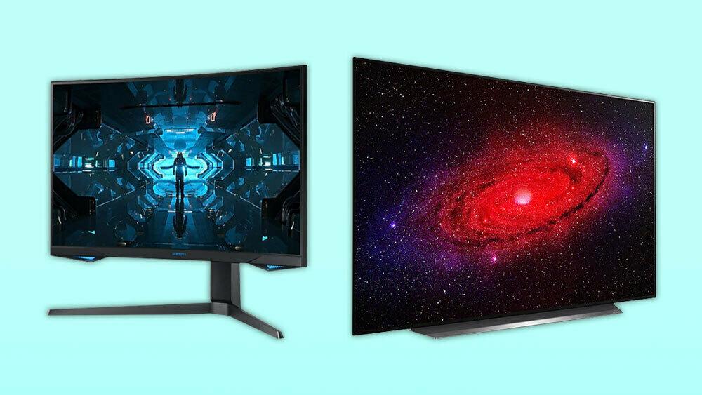 Samsung's G7 Odyssey monitor has a 1440p resolution and 240Hz refresh rate, while LG's CX OLED TV can support 4K at 120Hz.