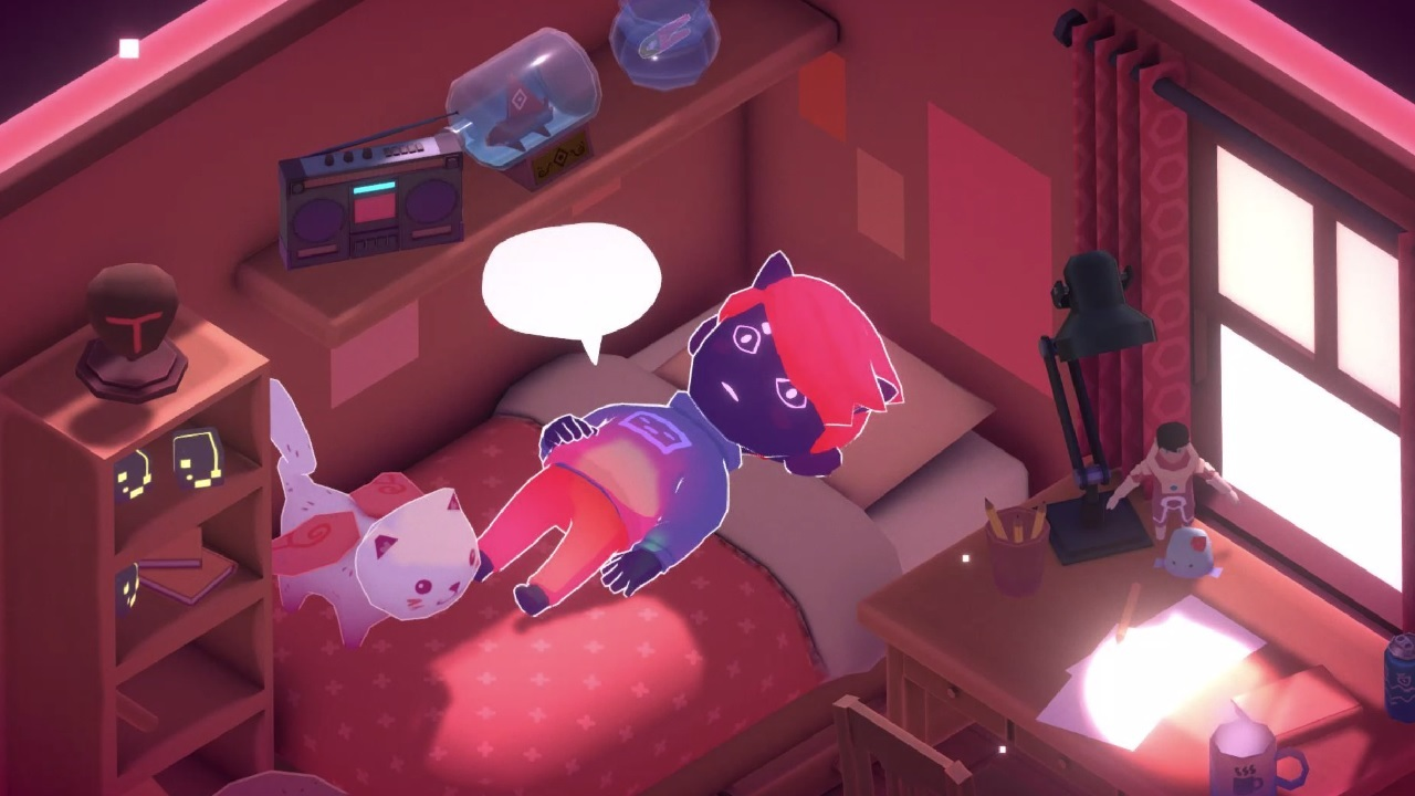 Screenshot from Kind Words (lo fi chill beats to write to), available on Steam and itch.io.