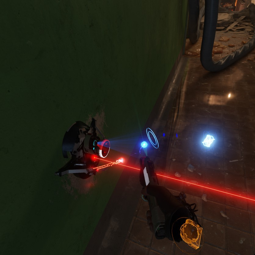 Attempting to disarm a laser tripmine.