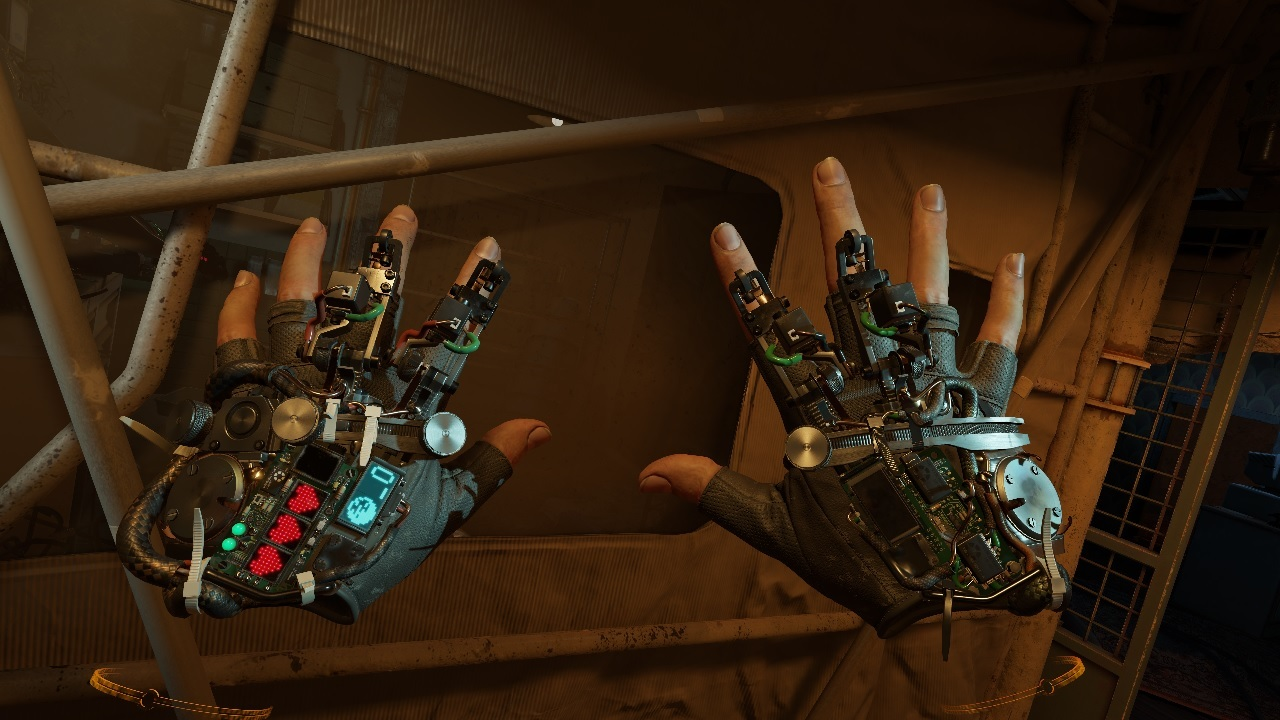 Alyx's gravity gloves. It is possible to play Half-Life: Alyx with one hand.