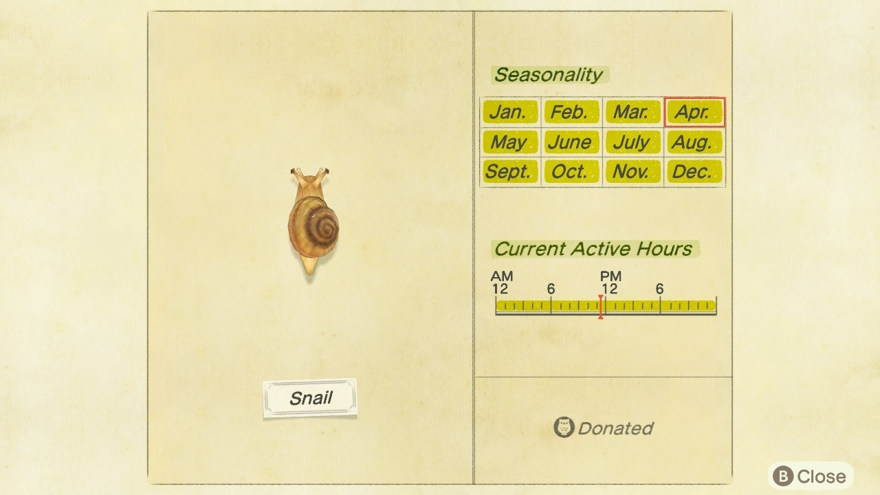 Snails are available at all times of the year and at all hours of the day.