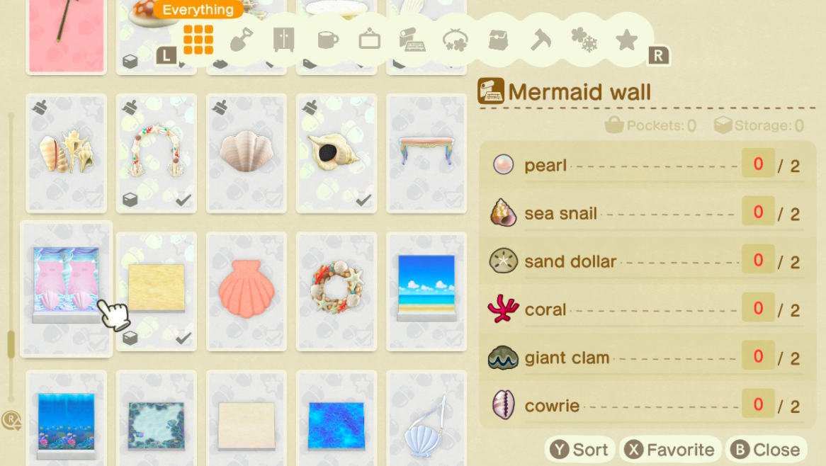 Craft mermaid-themed furnishings and clothing.