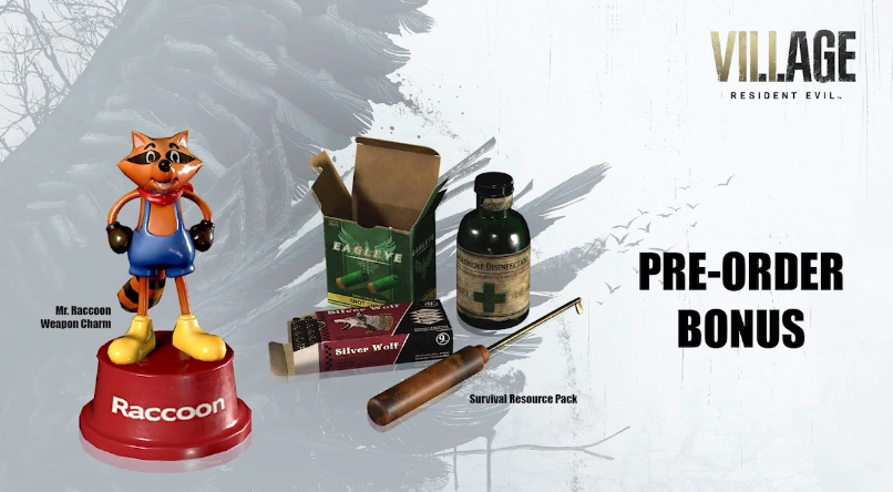 Resident Evil Village preorder bonuses.