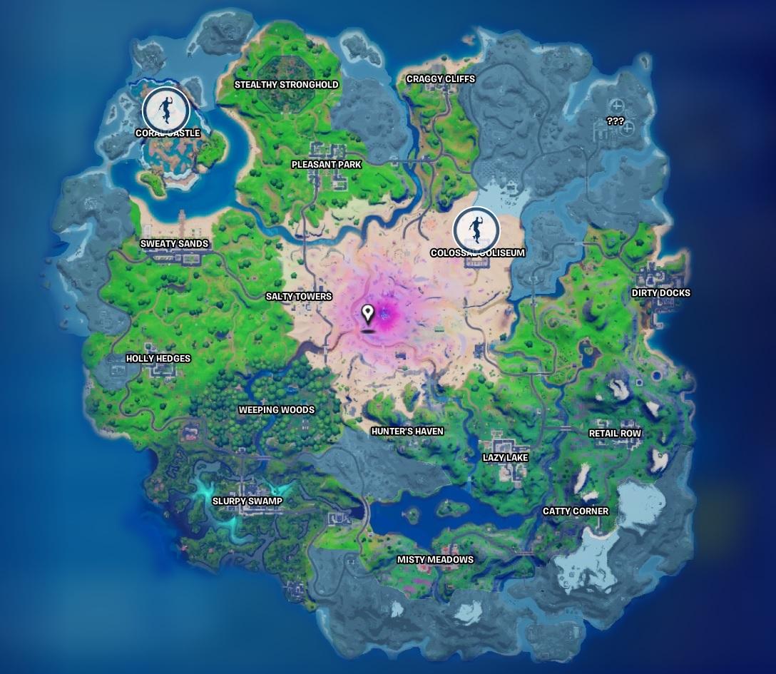 Stone statue location guide in Fortnite.
