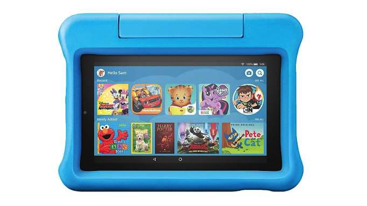 Amazon 16GB Fire 7 Tablet Kids Edition with built-in stand - $60