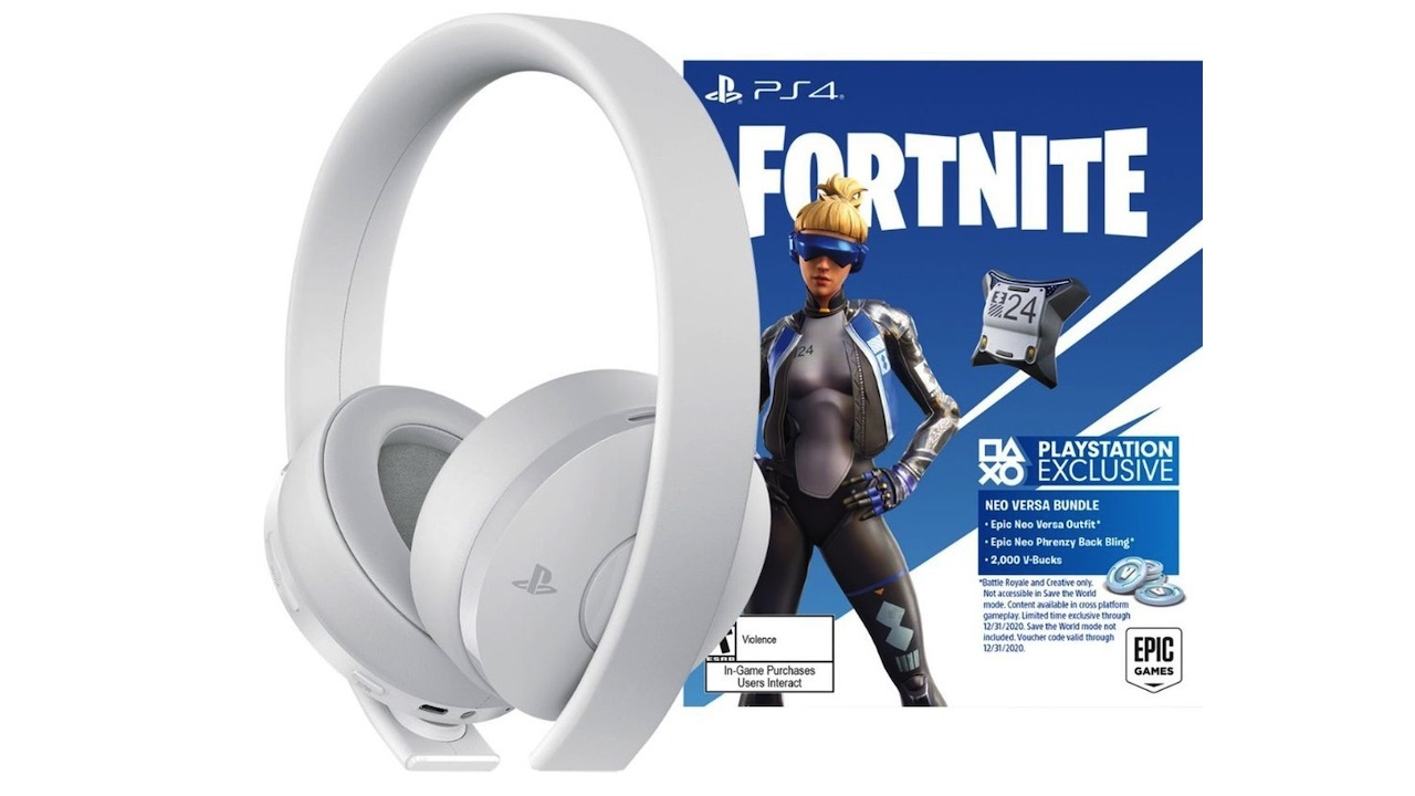 PlayStation Gold Wireless headset with Fortnite Neo Versa bundle - $70
