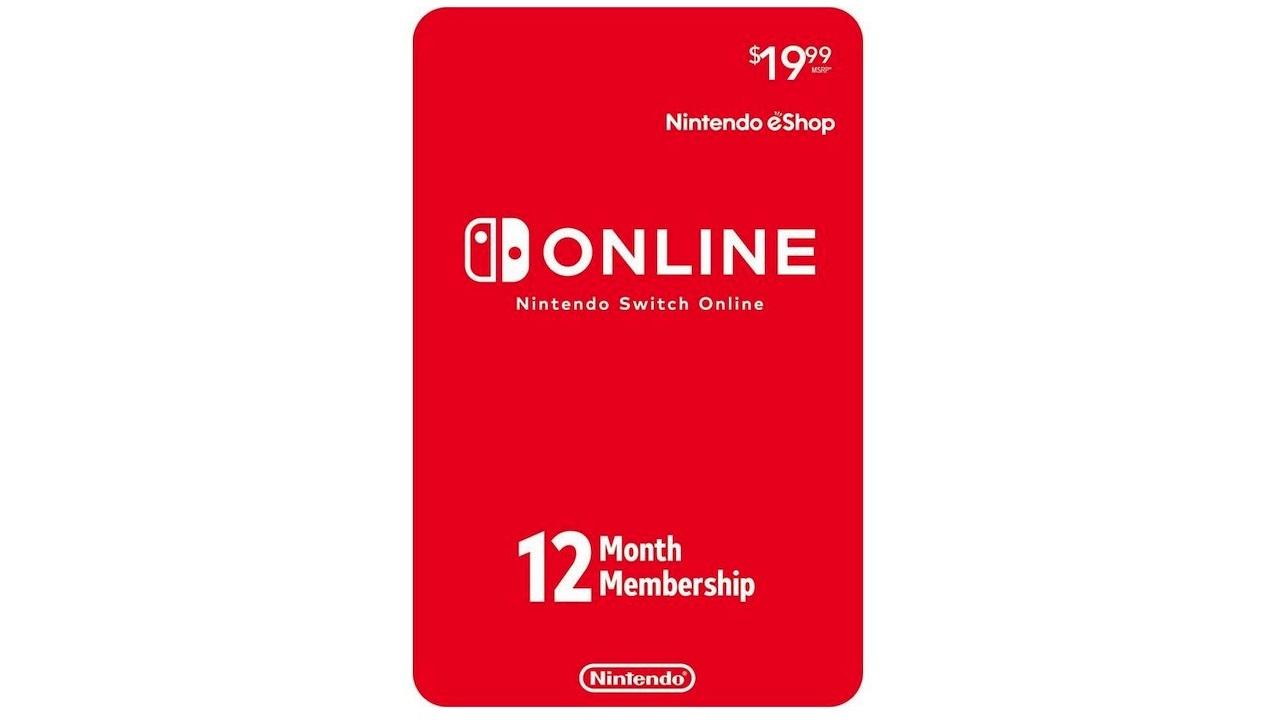 Nintendo Switch Online 12-month membership - $15