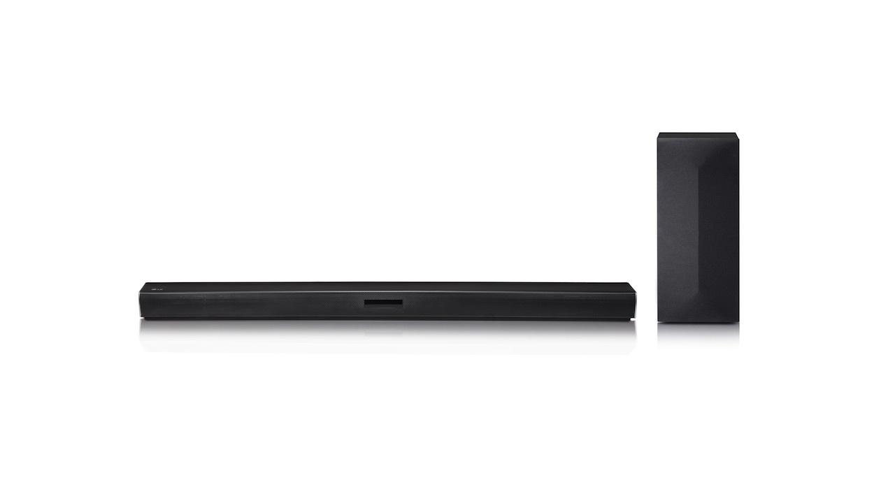 LG 2.1 Channel 300W soundbar with wireless subwoofer - $99