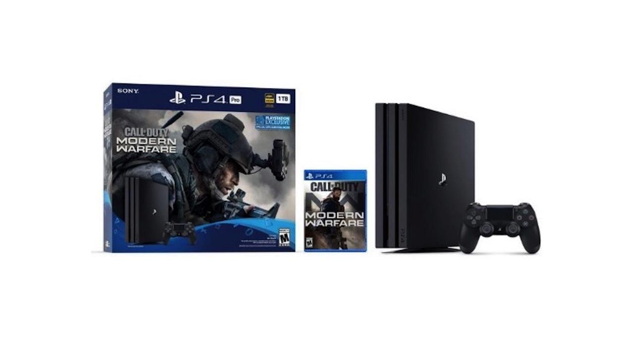 PS4 Pro bundle with Call of Duty: Modern Warfare -- $300
