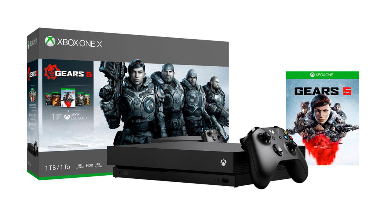 Xbox One X with Gears 1-5 -- $349
