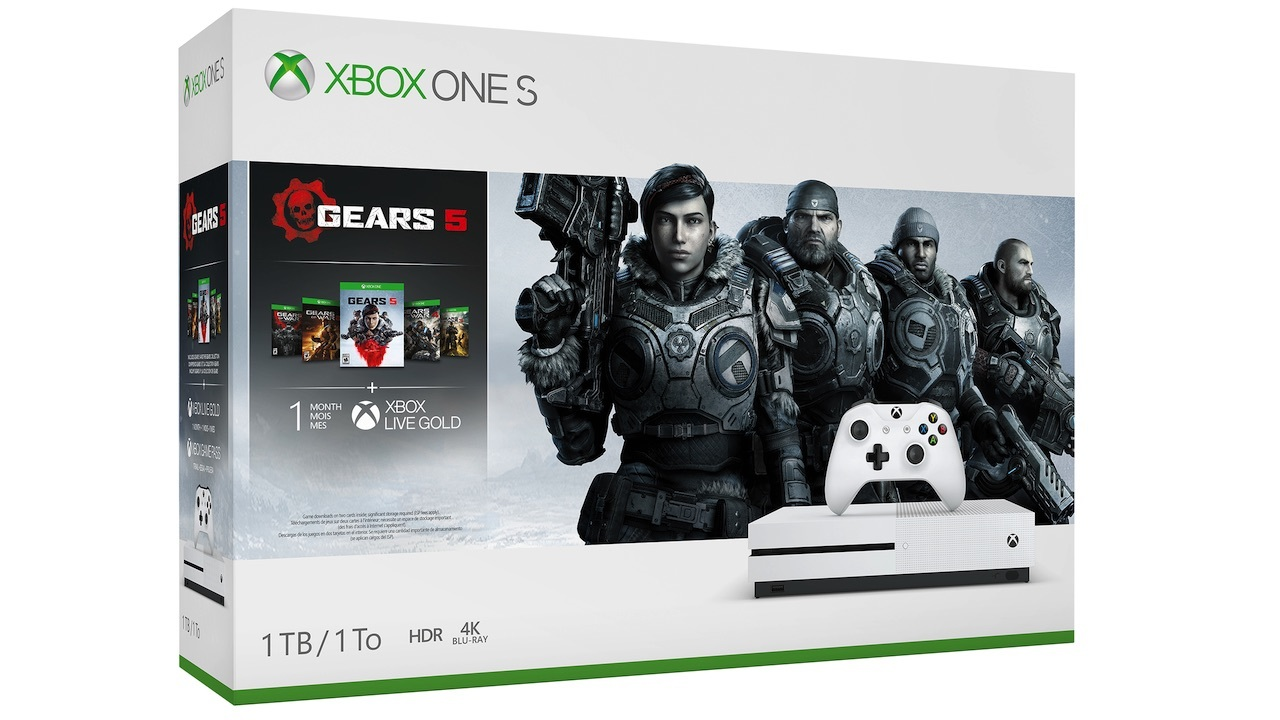 Xbox One S with Gears 1-5 -- $199