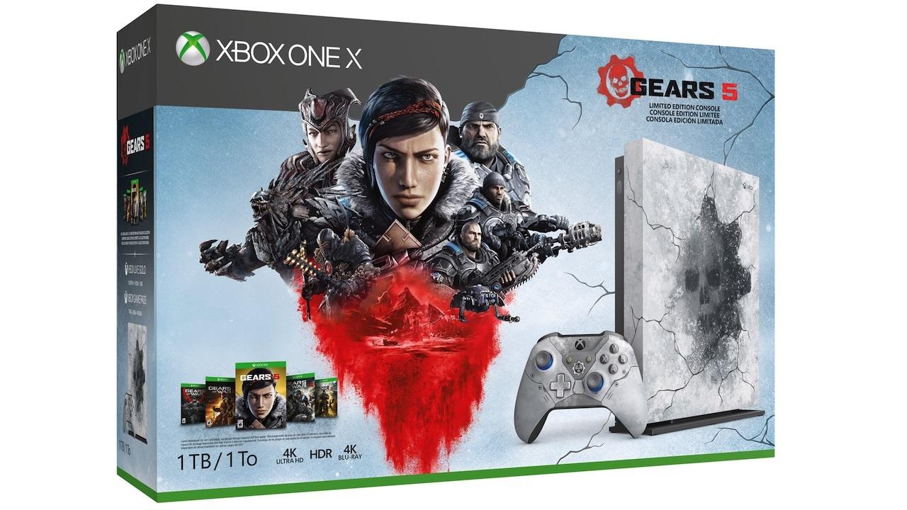 Xbox One X Gears Limited Edition Bundle -- $349
