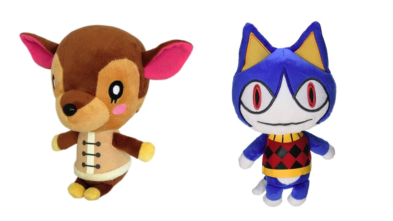 A bunch of Animal Crossing plushies are available