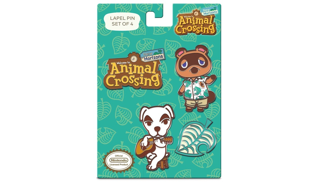 Now you can put four Animal Crossing lapel pins on your backpack