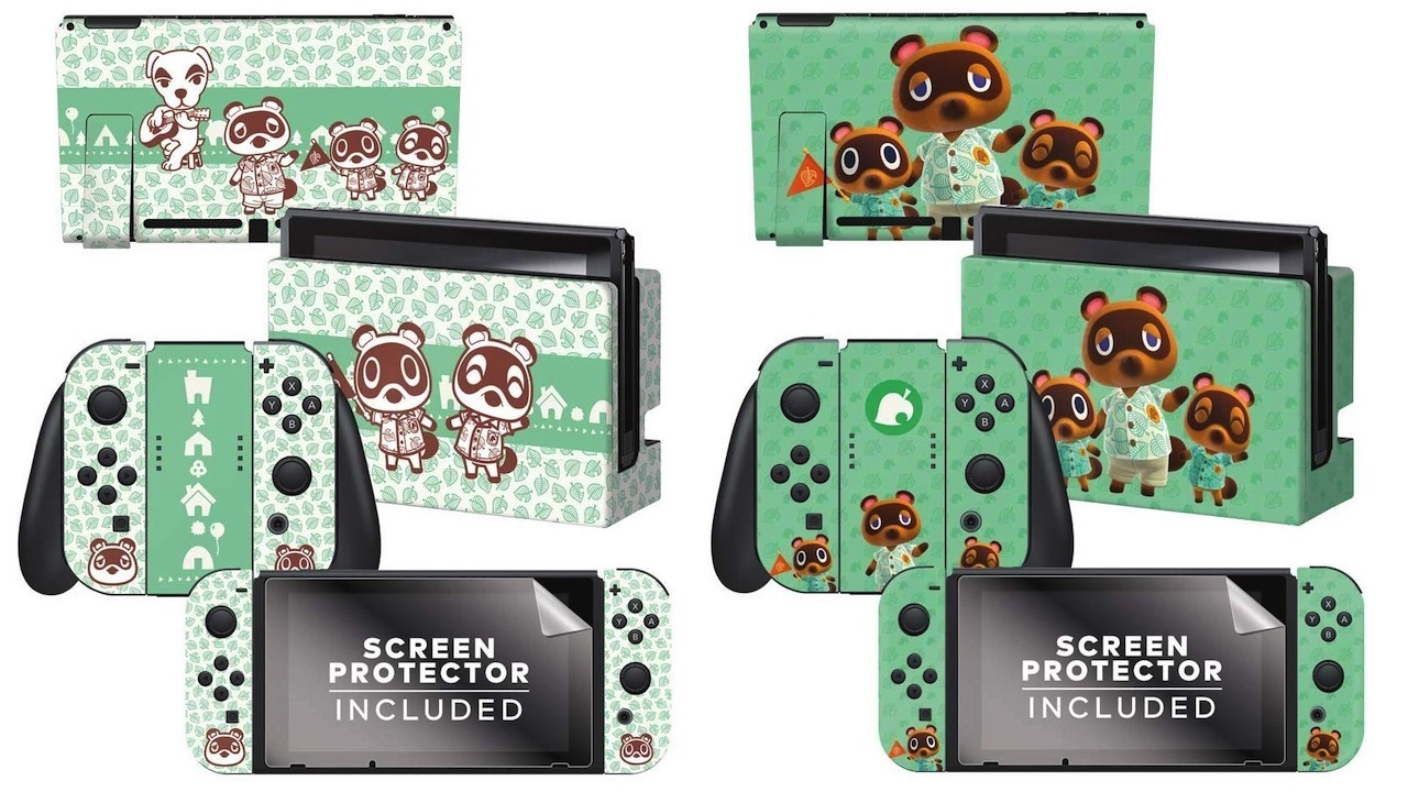 There are three Switch console skin designs to choose from
