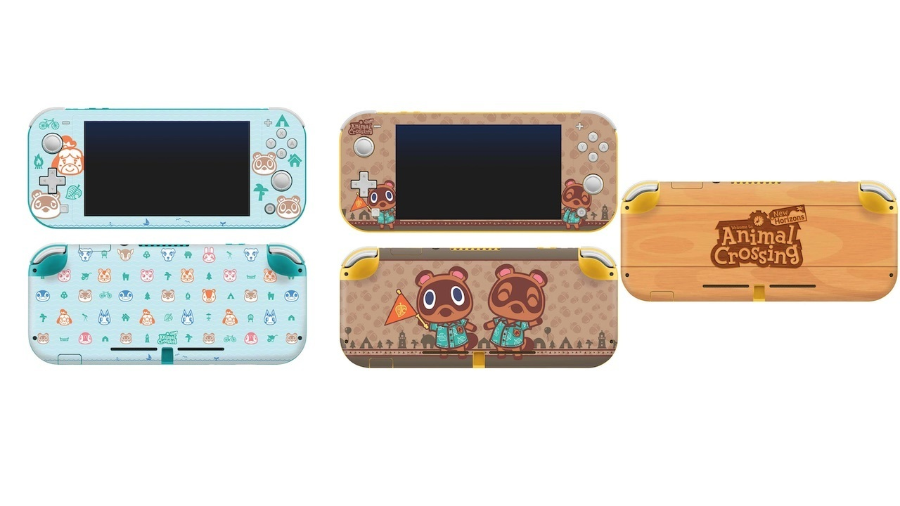 There are three Switch Lite console skin designs to choose from